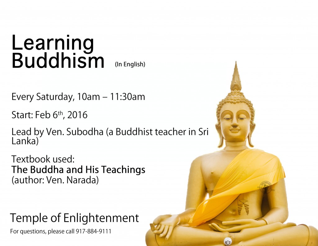Learning-Buddhism-2016-Ven.Subodha-poster