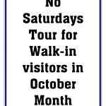 CYM No Saturdays Tour for Walk-in visitors in October Month