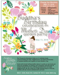 Buddha's Birthday and Mothers Day Garden Party 5/13/18