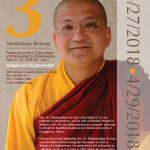TOE 3 Day  Meditation Retreat With Venerable Dr. Dhammadipa 4 27-29/18 BRONX